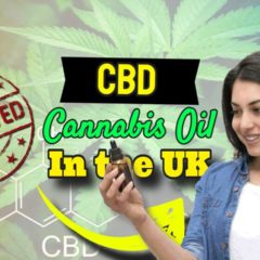 """Image with text: """"CBD Cannabis Oil Approved in UK""""."""