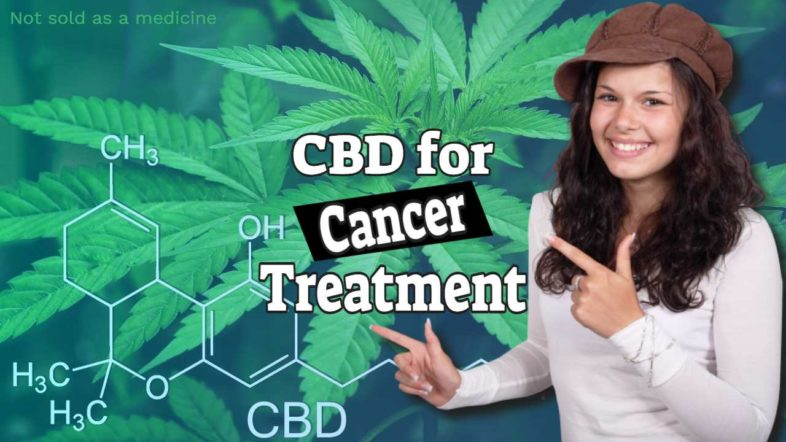 """Featured image with text: """"CBD oil for cancer treatment""""."""
