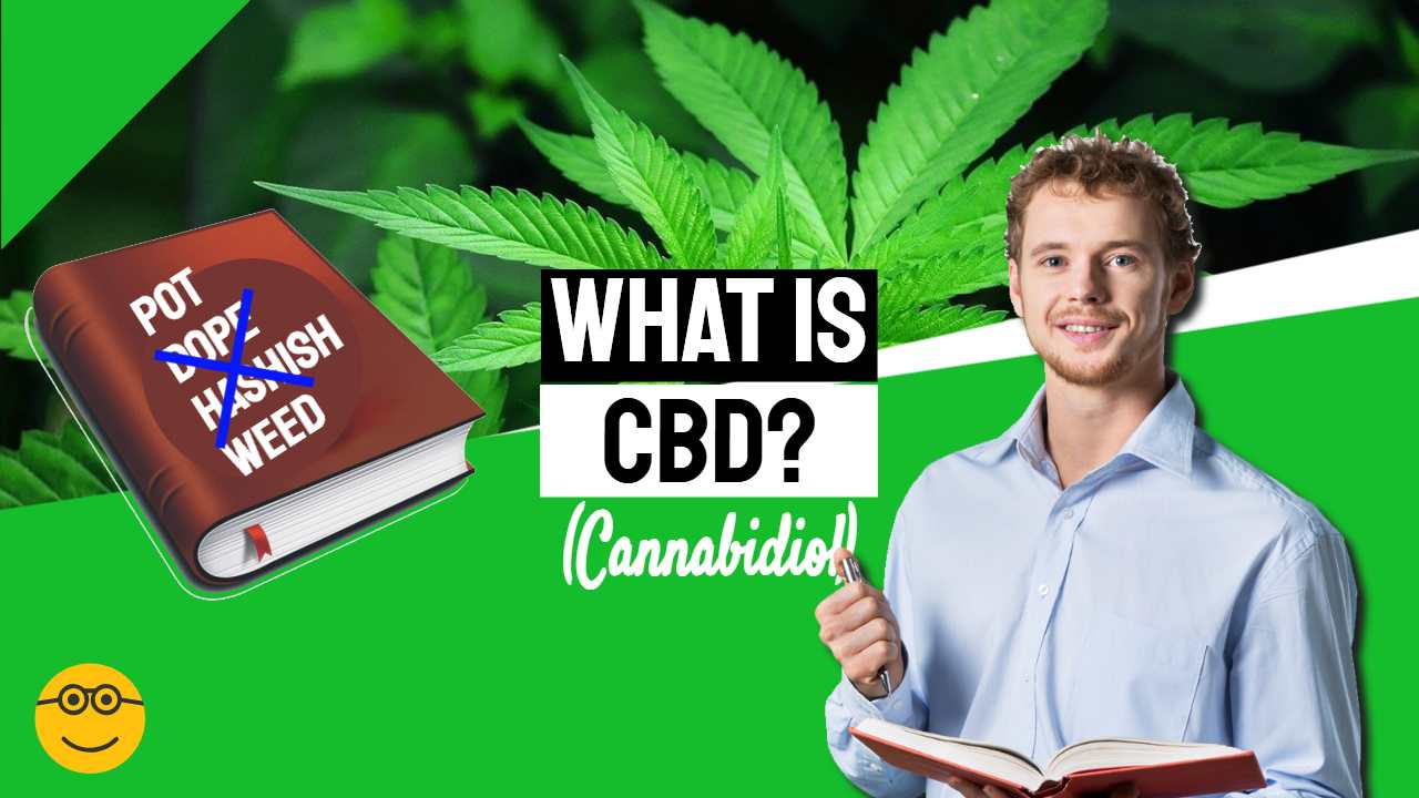 """Featured image with text: """"What is CBD?""""."""