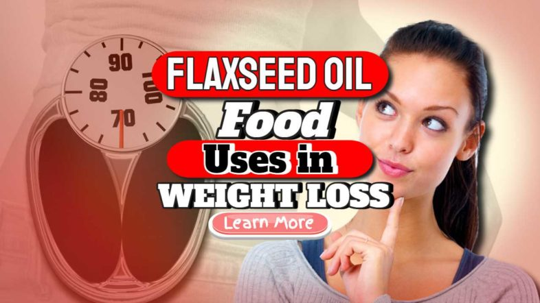 """Featured image text: """"Flaxseed oil food""""."""