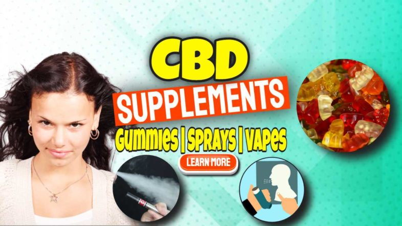 """Feature image text: """"CBD Supplements""""."""