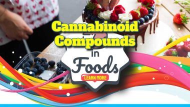 """Image text states: """"Cannabinoid compounds in foods""""."""