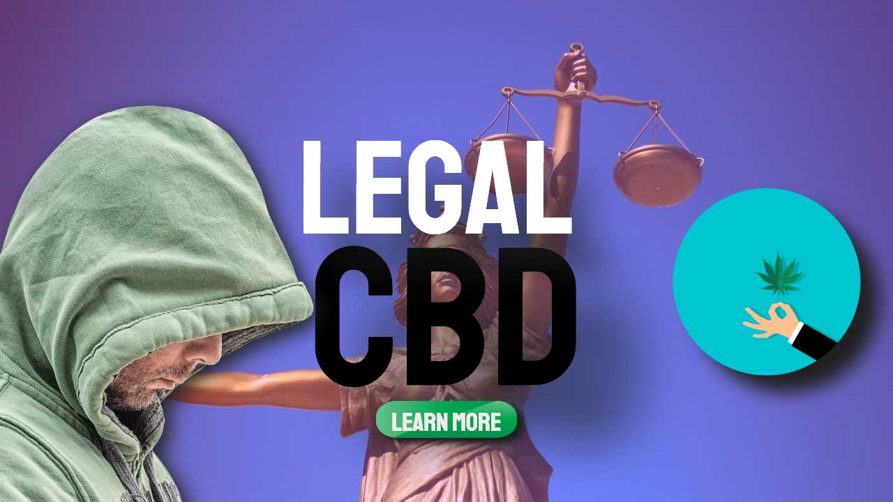 """Image text: """"Legal CBD"""" for the pain of ageing"""