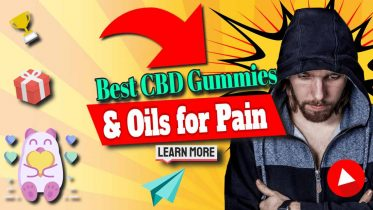 """Image text: """"Best CBD Gummies and Oils for Pain""""."""